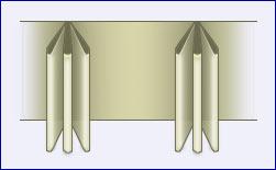 gemeten breedte x 28 25cm per gordijn